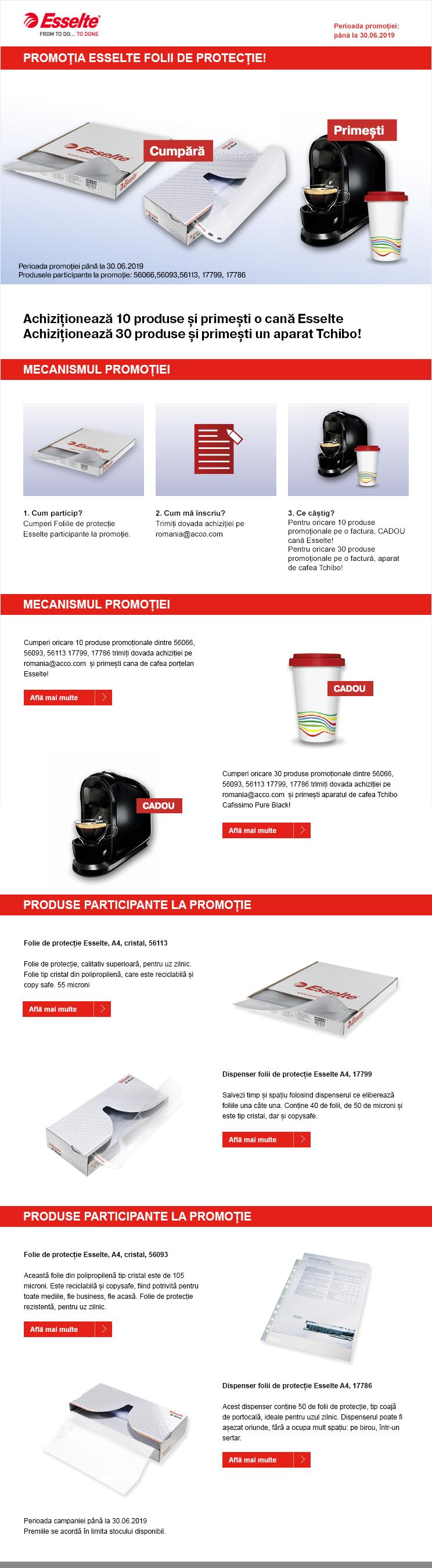 Cadou Viamond, magazin papetarie - Folii transparente Esselte